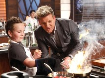 "MASTERCHEF: L-R: Contestant Charlie with host / judge Gordon Ramsay in the all-new ""Junior Edition: Just Like Gordon"" episode of MASTERCHEF airing Thursday, Feb. 23 (8:00-9:01 PM ET/PT) on FOX. CR: Greg Gayne / FOX. © 2017 FOX Broadcasting Co."